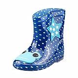 FNKDOR Kinder Gummistiefel Jungen Mädchen Regenstiefel Kurzschaft Waterproof Schuhe (28, Dunkelblau)