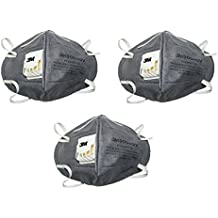 3M 9004GV Anti Pollution Mask (Pack of 3, Grey)