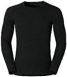 Odlo Herren Langarm Tshirt Crew Neck Warm, schwarz(schwarz), M