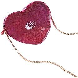 2017 Morwind Mujeres en forma de corazón bolsos de cremallera bolsa de cosmética bolso bolsas de hombro (D)