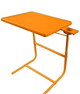 IBS PLATINUM DOUBLE FOOT REST ADJUSTABLE FOLDING KIDS MATE HOME OFFICE READING WRITING STUDY ORANGE TABLEMATE WITH CUPHOLDER Plastic Portable Laptop Table(Finish Color - Orange)