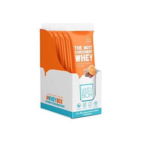 Whey Box Whey Protein Sachets, Chocolate Orange, 30 g, 12-Sachets