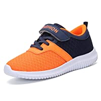 KVbaby Kids Ultralight Tennis Shoes Mesh Sport Walking Sneakers Fashion Running Shoes for Boys Girls Orange(Size: 5.5 UK)