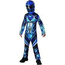 Power Rangers - Disfraz Blue Ranger Classic infantil, M (Rubie's Spain 630714-M)
