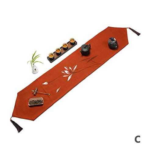 TTQIAOHUA Tischläufer Wasserdichte Handgemalte Tv Schrank Tisch Couchtisch Bett Handtuch Baumwolle 30X180 cm C