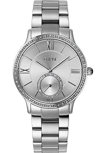CHRIST times Damen-Armbanduhr Edelstahl Analog Quarz One Size, silber, silber