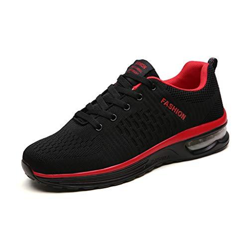 LXJL Scarpe da Ginnastica da Uomo con ammortizzatori da Corsa Traspirante Outdoor Fitness Esercizio Jogging Sneakers Sportive,b,42