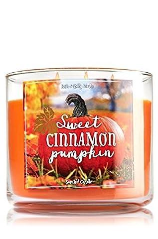 Bath & Body Works 3-Wick Candle Sweet Cinnamon Pumpkin by bbw