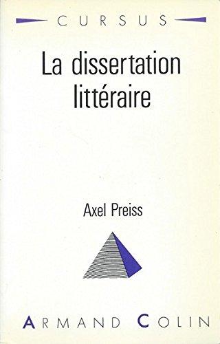La Dissertation littraire