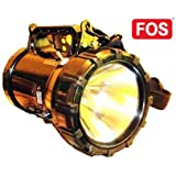 FOS Army Search Light, 55W Halogen (with Built-in, Rechargeable 7Ah SMF Battery), Lighting Range Of Up To 1 Km.