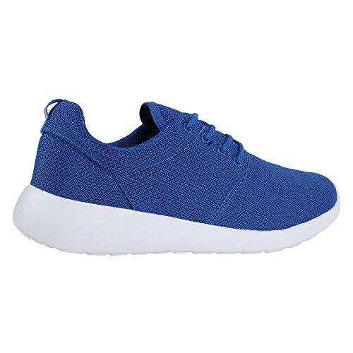 Damen Laufschuhe   Modische Sportchuhe  Sneaker Profilsohle  Glitzer Pailletten Sneakers   Runners Snake Blumen Blau Weiss