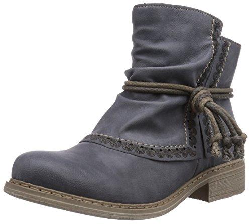 Rieker Damen 75673 Kurzschaft Stiefel Blau (jeans / 14) 38 EU