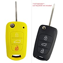 CK+ Funda para llave de coche Kia, de Silicona, para Rio, Ceed,