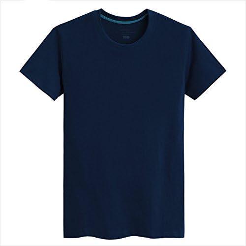PENG PENG PENG T-shirt bianca con un Coloreeee solido Short-Sleeved uomini suolo Girocollo Cotone Cotone estivo compassionevole allentati mezza manica traspirante confortevole, Blu, M | Diversi stili e stili  | Re della quantità  d53d04