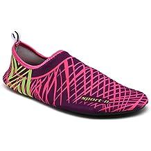 SAGUARO® Skin Shoes descalzo acuático Aqua calcetines para de nadada de la playa de la resaca de la yoga