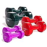 C.P. Sports Rutschfeste Gymnastikhanteln 0,5-0,75-1,0-1,5-2,0-2,5-3,0-4,0-5,0-6,0-8,0-10 kg - Paare Kurzhantel, Vinyl Hanteln, Faust Hantel, Gewichte, Fitness (Set-2+4+6 KG)