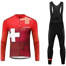 cab5d804eeb7 Uglyfrog 2019 Design Moda Maglia Ciclismo MTB Jerseys per Uomo Abbigliamento  Ciclismo Invernale: Lunghe Maniche