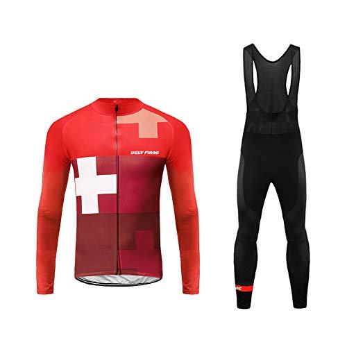 Uglyfrog Magliette Uomo Manica Lunga Ciclismo Magliette+Lunga Pantaloni da Ciclismo Body Inverno Style ZRMX10