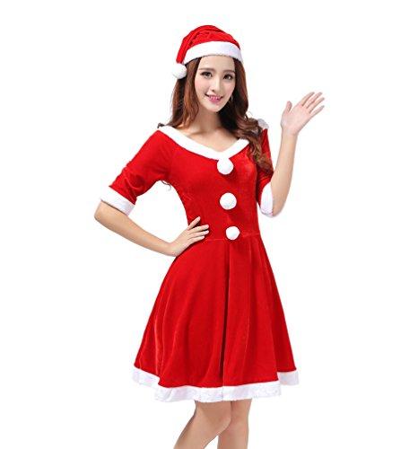 WanYang Halloween Cosplay Kostüm Sexy Damen Weihnachten Kleid -