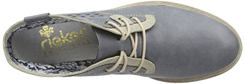 Rieker - L4145, Stivaletti Donna Blu (jeans/Grau / 14)
