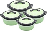 SELVEL FLORENCE CASSEROLE 4PC SET GREEN (1000/1500/2000/3000 ML), PHPF04-GREEN