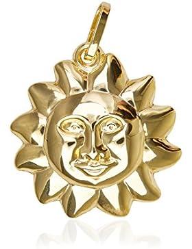 MyGold Sonnen-Anhänger (ohne Kette) Gelbgold 333 Gold (8 Karat) Ø 15mm Hochglanz Goldanhänger Kettenanhänger Halskette...