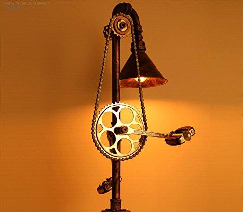 Atmko®Lampada da Terra Lampada a Stelo Piantana lampada in ferro lampada tubo piano ingranaggio piano stile industriale