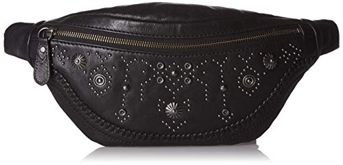 FRYE Damen Stud Leather Belt Bag Concho Hip Pack - Gürteltasche aus Leder, mit NIeten, schwarz, Einheitsgröße -