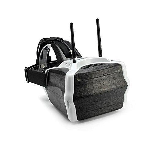 Qwinout Skyzone SJ-V01 Schutzbrille Brille 7 Zoll FPV-Video HD Kopfhörer HDMI Eingabe Bulit-in 40 Kanal 40CH Empfänger (Typ 1) (Hdmi-video-brille)