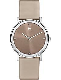 Danish Design Damen-Armbanduhr Analog Quarz Leder braunes Zifferblatt DZ120254