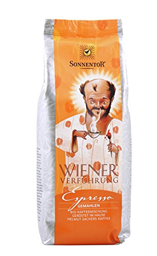 Sonnentor Espresso gemahlen Wiener Verführung, 1er Pack (1 x 500 g) - Bio