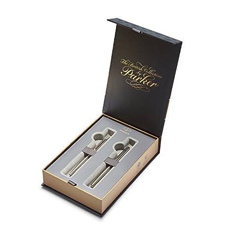 PARKER Coffret-cadeau collection britannique, stylo-plume et stylo-bille Jotter, acier inoxydableCT (1978324)