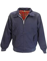 Blouson style harrington bleu marine veste rétro MOD / biker XS - 3XL