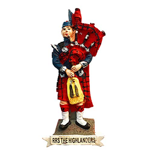 Highlanders Bagpipe Plaid Skirt Schottland Großbritannien 3D Kühlschrank Kühlschrankmagnet Travel Souvenir Collection Dekoration White Board Sticker