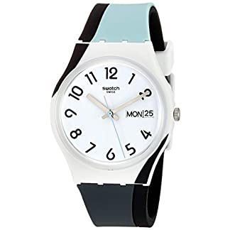 Swatch Reloj Analógico para Unisex Adultos de Cuarzo con Correa en Silicona GW711