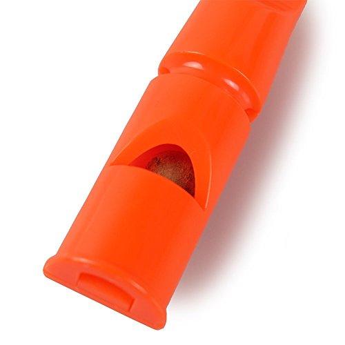 Acme Doppelton Hundepfeife 641 / orange / 6 cm - 3
