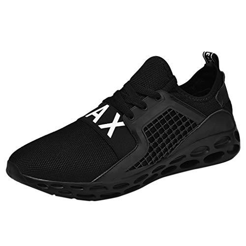 POLPqeD Scarpe Casual da Uomo Moda Flat Sport Breathable Sport Scarpa Leggera Walk Running Sneakers