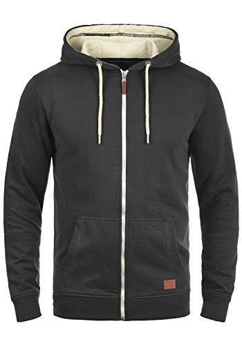BLEND Hulker 20704468ME Zip-Hood, Größe:XXL;Farbe:Black (70155)