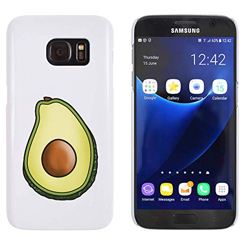 Azeeda Blanco 'Aguacate' Funda / Carcasa para Samsung Galaxy S7 (MC00183697)