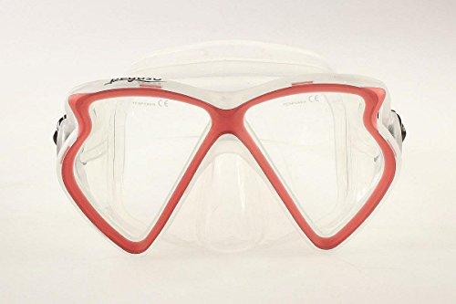 Pegaso® Profi Tauchmaske - Silikon - hoher Tragekomfort (Rot)