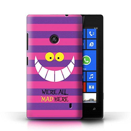 Stuff4 Coque de Coque pour Nokia Lumia 520 / Chat du Cheshire/Mad Ici Design/Fantaisie Pays Merveilles Art Collection