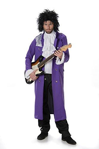 Kostüm L'rain - Karnival Costumes  - Prince Purple Rain Kostüm für Herren Taille L