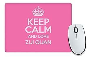 Rose Keep Calm and Love Zui Quan Tapis de souris Couleur 1112