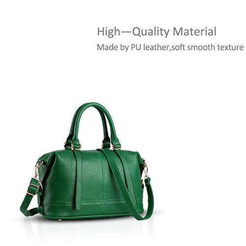 Nicole&Doris 2016 sacs ¨¤ main de mode casual -RETRO- sac ¨¤ main d'¨¦paule Sac ¨¤ main Messenger Bag Femme(Green) vert
