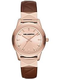 Karl Lagerfeld KL3803 - Reloj con correa de cuero, para mujer, color rosa / marrón