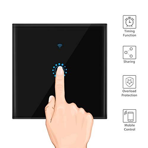 OurLeeme Interruptor de luz de Pared táctil Wi-Fi, Interruptor de Temporizador de...