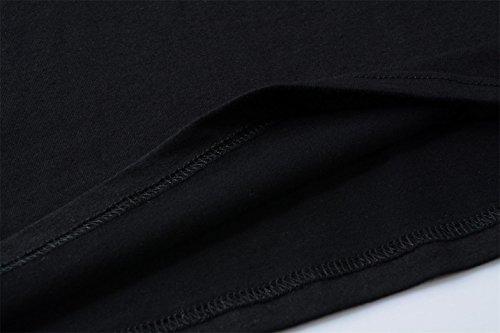 Yeesea Donna Maglietta Camicetta Cotone Casual Maniche Corte T-Shirt Tops Nero
