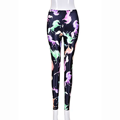BFD Damen Skinny Leggings One size  Gr. One size , Unicorn Black - Foil Print Leggings