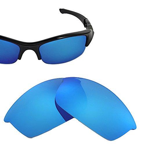 Cofery Ersatzgläser für Oakley Flak Jacket Sonnenbrille - Verschiedene Optionen erhältlich, Unisex, Ice Blue - Polarized, Einheitsgröße