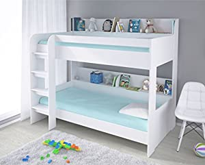 Kidsaw Ltd, Aerial Bunk Bed White, Wood, 195 x 136 x 175 cm